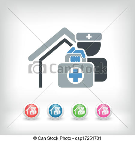 Vector Clipart of Medical to domicile csp17251701.