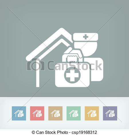 Vector Clip Art of Medical to domicile csp19168312.