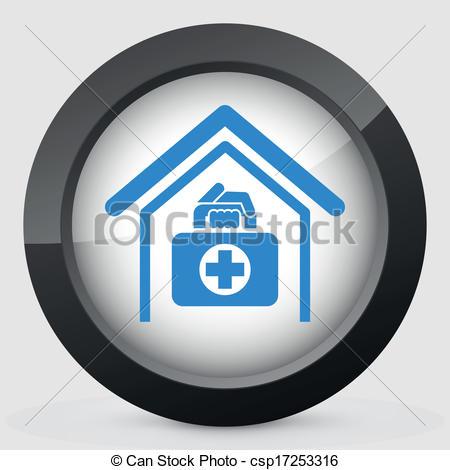 Vector Clip Art of Medical to domicile csp17253316.