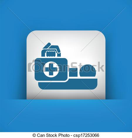 Clip Art Vector of Medical to domicile csp17253066.