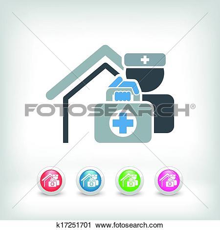 Clipart of Medical to domicile k17251701.