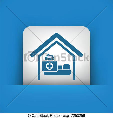 Clipart Vector of Medical to domicile csp17253256.