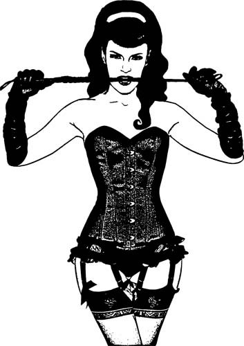 Domina Pinup Girl Mädchen PNG ClipArt Download digitales Bild.