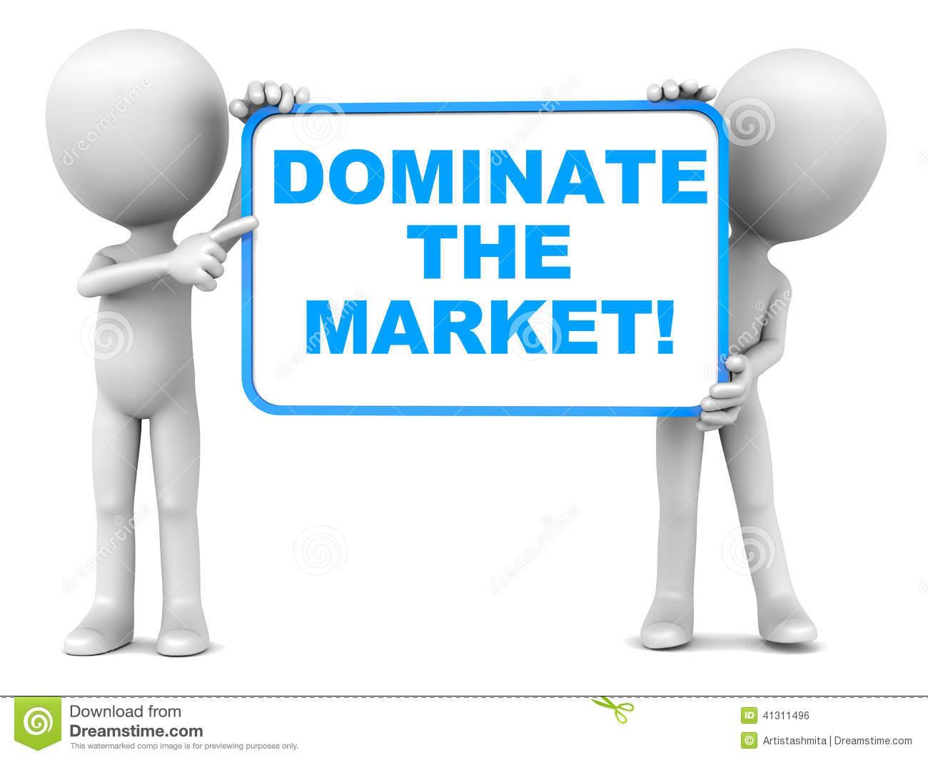 Market Domination Stock Illustration.