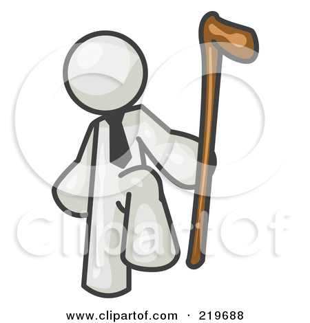 Clipart of a Skinny Roman Soldier Man.