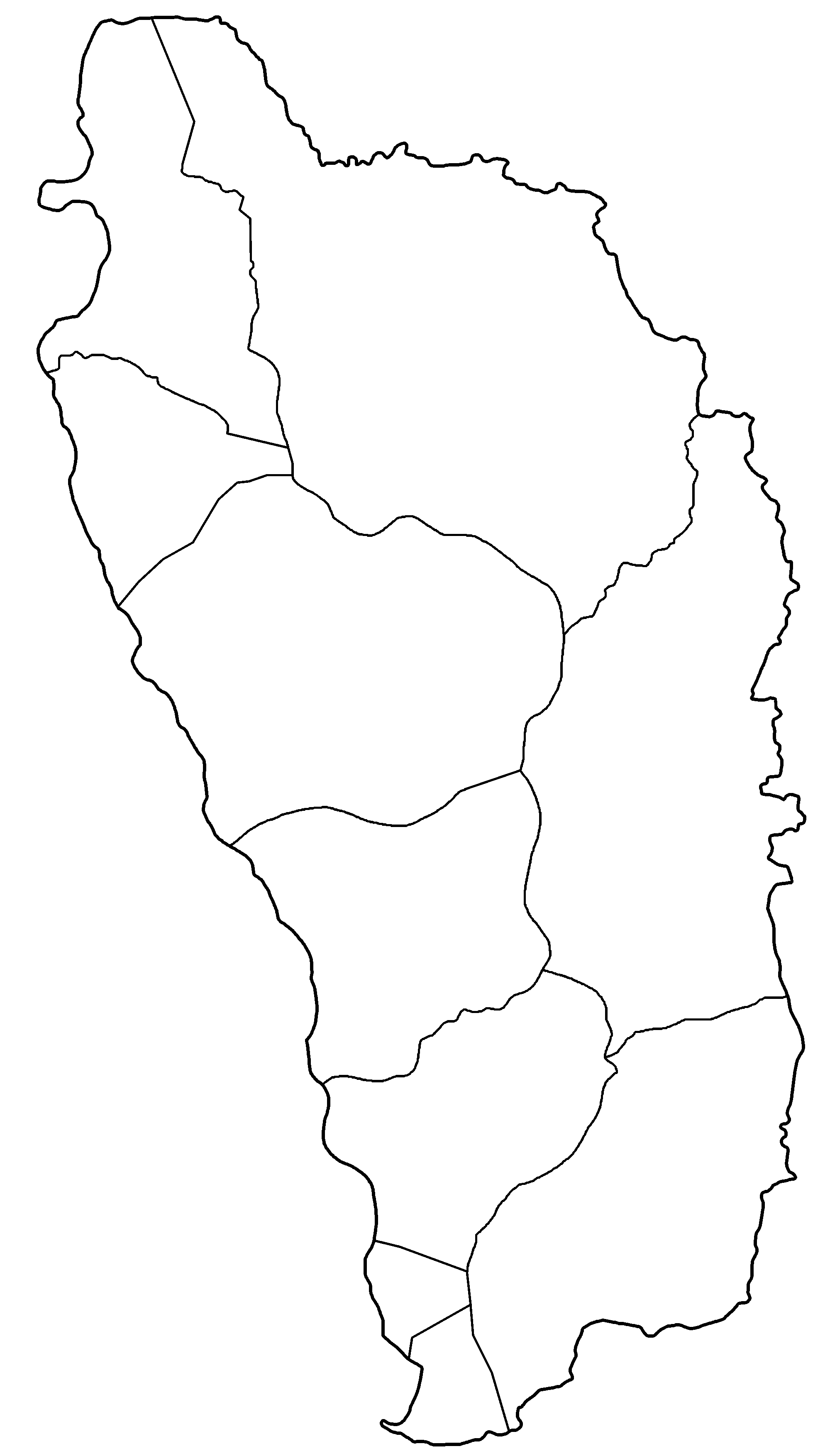 Map of dominica clipart.