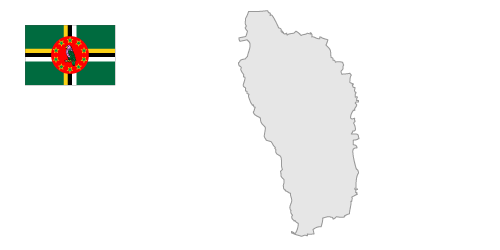 Dominica Map / Free Illustration.
