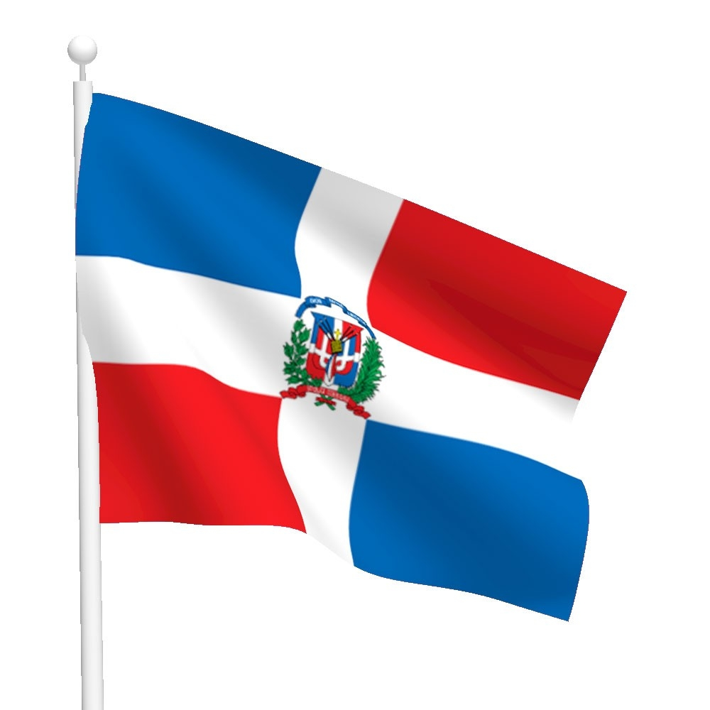 Dominican Republic Flag Clipart.