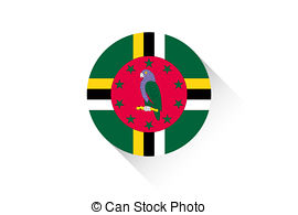 Round icon with flag of dominica Illustrations and Stock Art. 24.