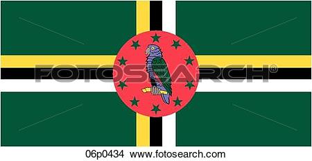 Clipart of dominica flag 06p0434.