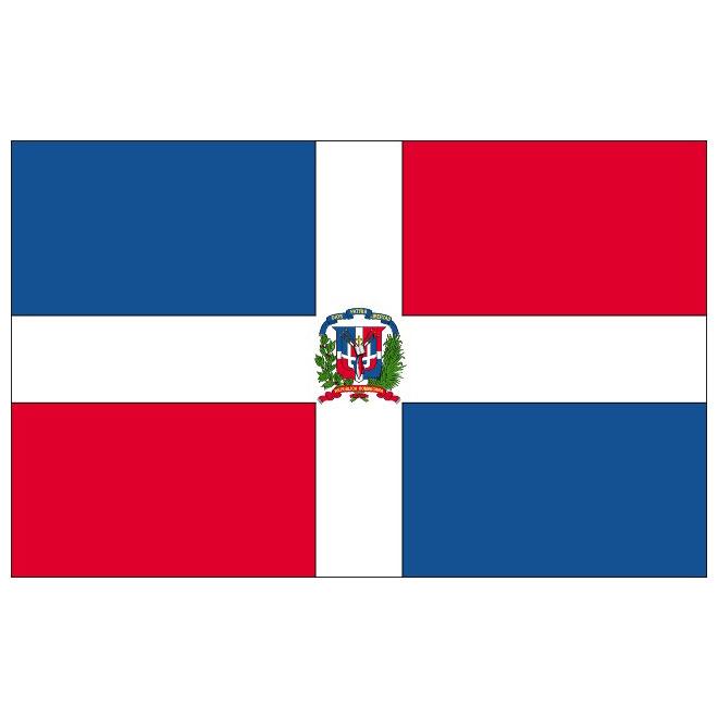 DOMINICAN REPUBLIC VECTOR FLAG.