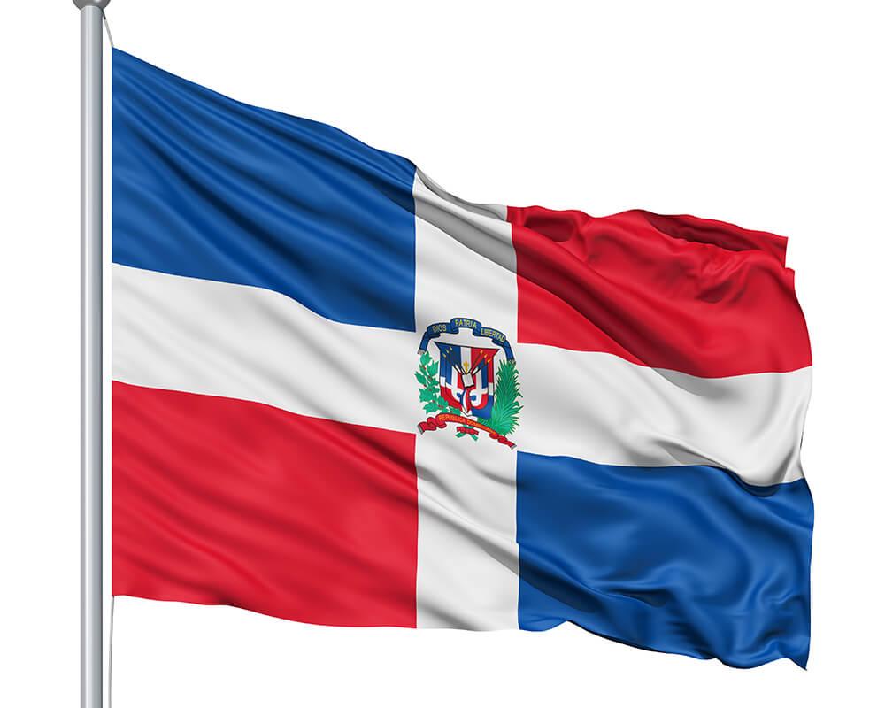 Dominican Republic Flag colors.