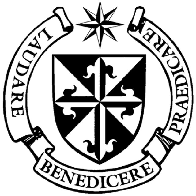 Dominican shield. Don\'t forget VERITAS (truth).