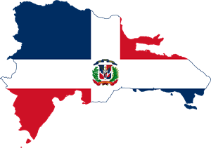 Flag map of the Dominican Republic Logo Vector (.EPS) Free.