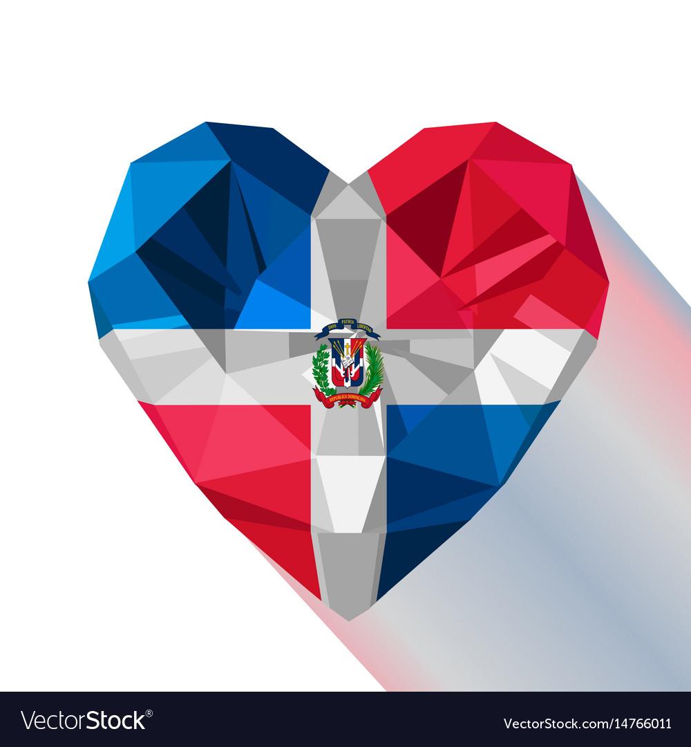 Logo symbol of love the dominican republic.