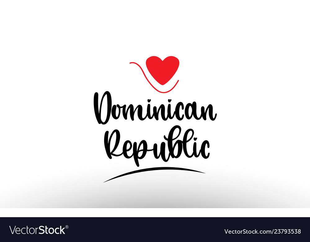 Dominican republic country text typography logo.