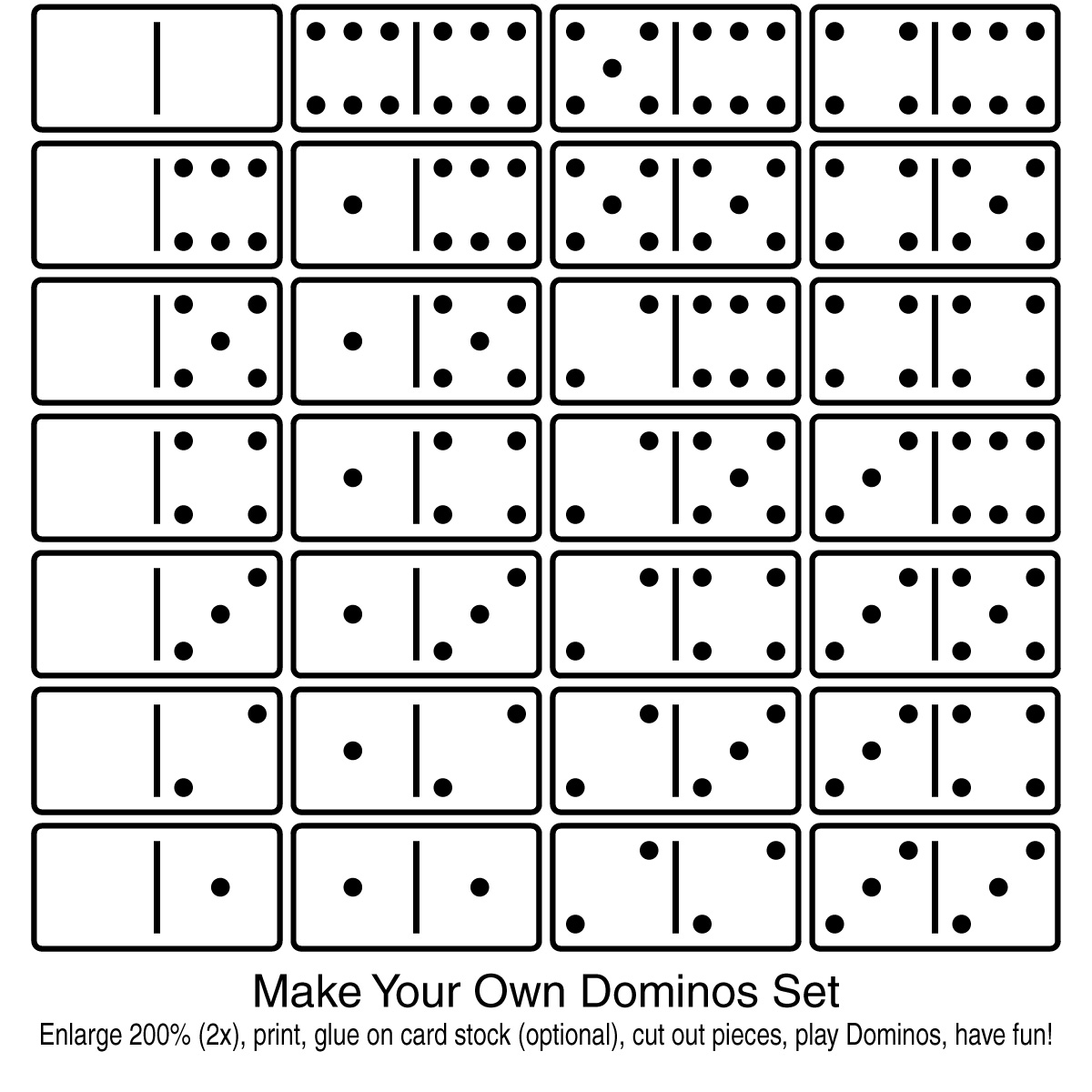 Domino Black And White Clipart.