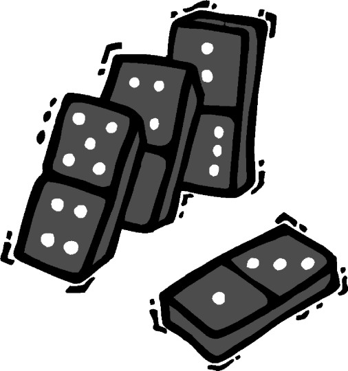 Falling domino clipart.
