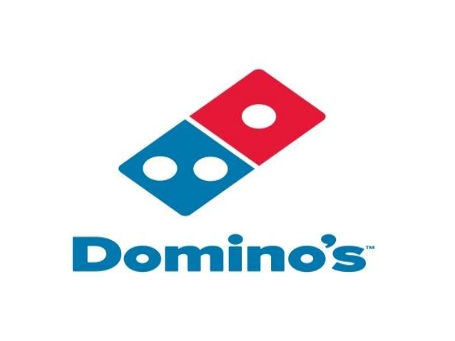 Domino\'s logo change over the years.