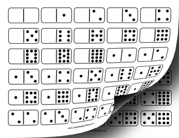 One Domino Printable Clipart.