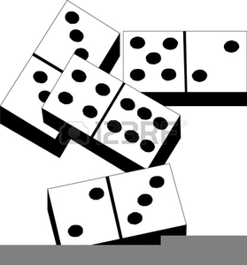 Dominoes Game Clipart.