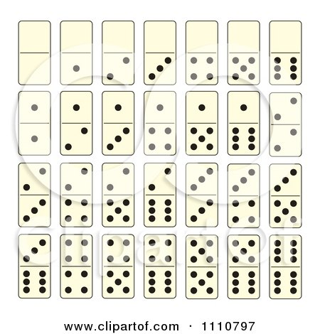Clipart Dominoes Game Tiles.
