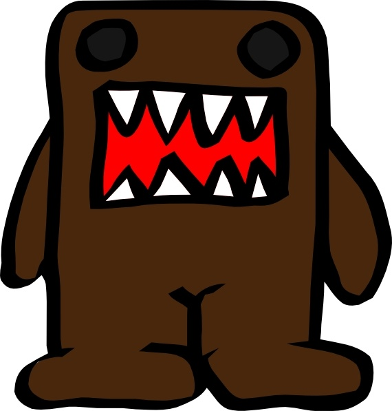 Domo Kun clip art Free vector in Open office drawing svg.