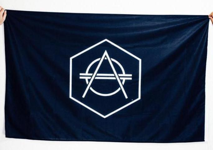 Official Don Diablo Flag black with white logo.