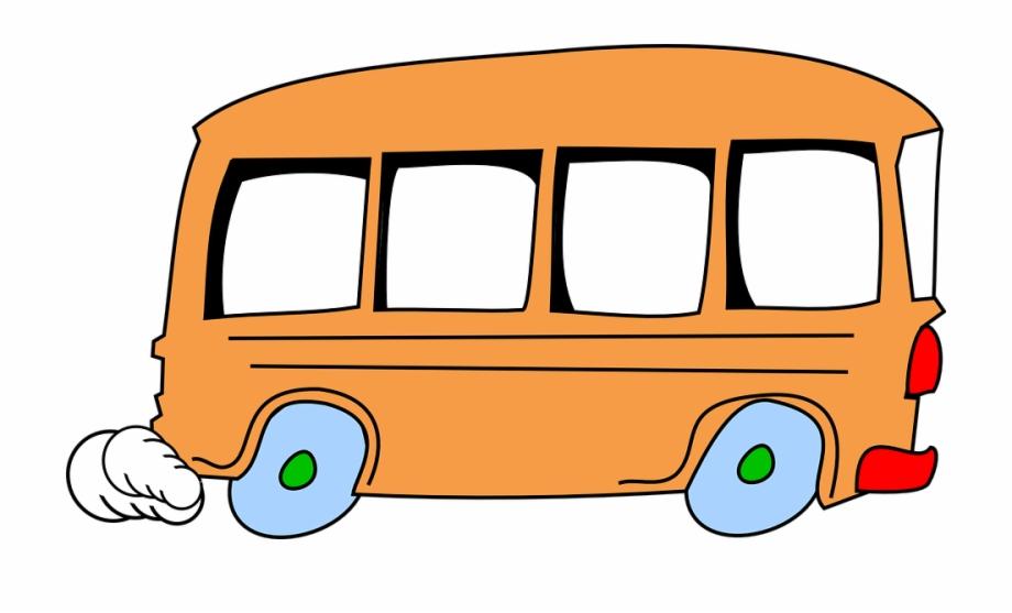 Bus, Cartoon, Speeding, Cute, Vehicle, Isolated, School.