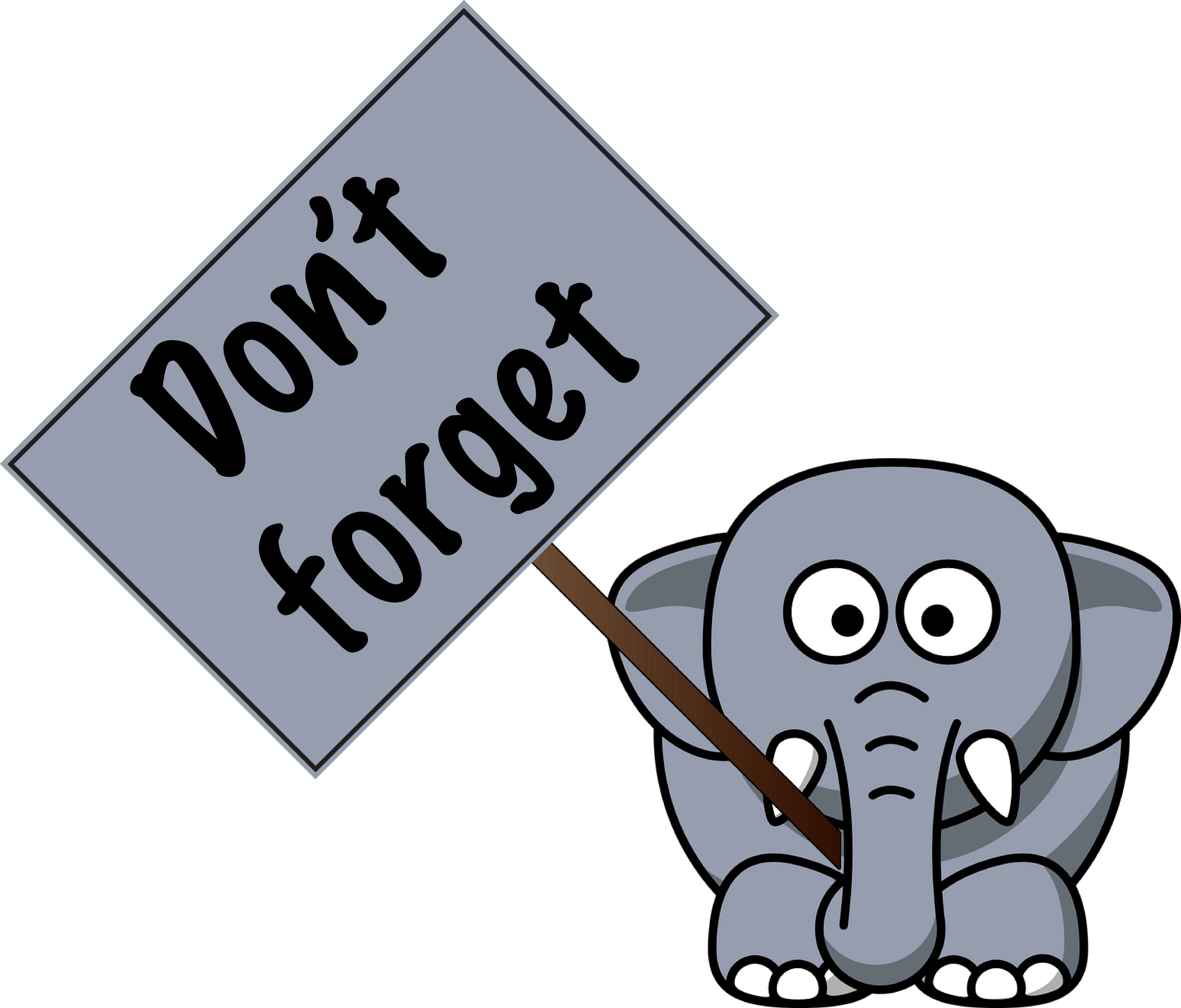 Don\'t Forget Elephant Clipart.