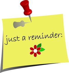 Don t forget clipart reminder.