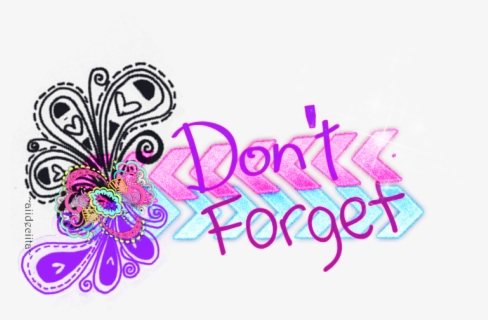 Free Don T Forget Clip Art with No Background.