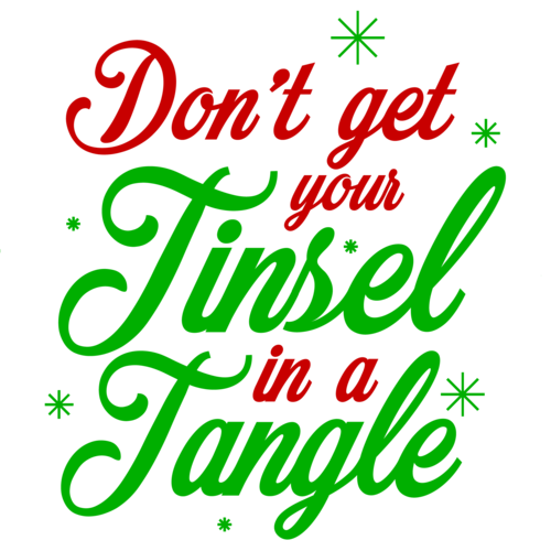 Don\'t get your tinsel in a tangle.