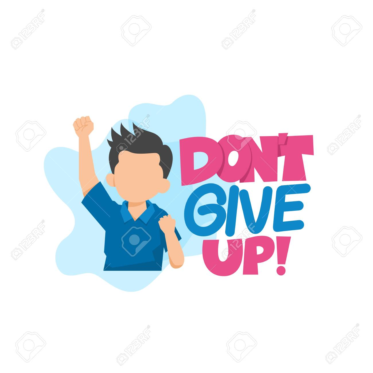 Don't Give Up Typography Vector Illustration.