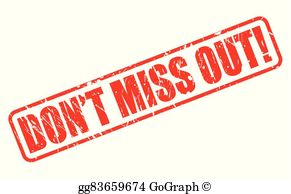 Dont Miss Out Clip Art.