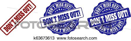 DON'T MISS OUT! Scratched Stamp Seals Clipart.