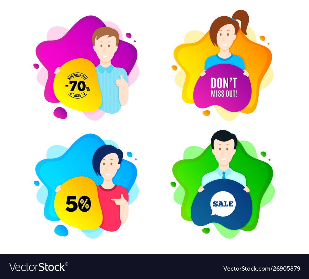 Dont miss out special offer price sign vector image.