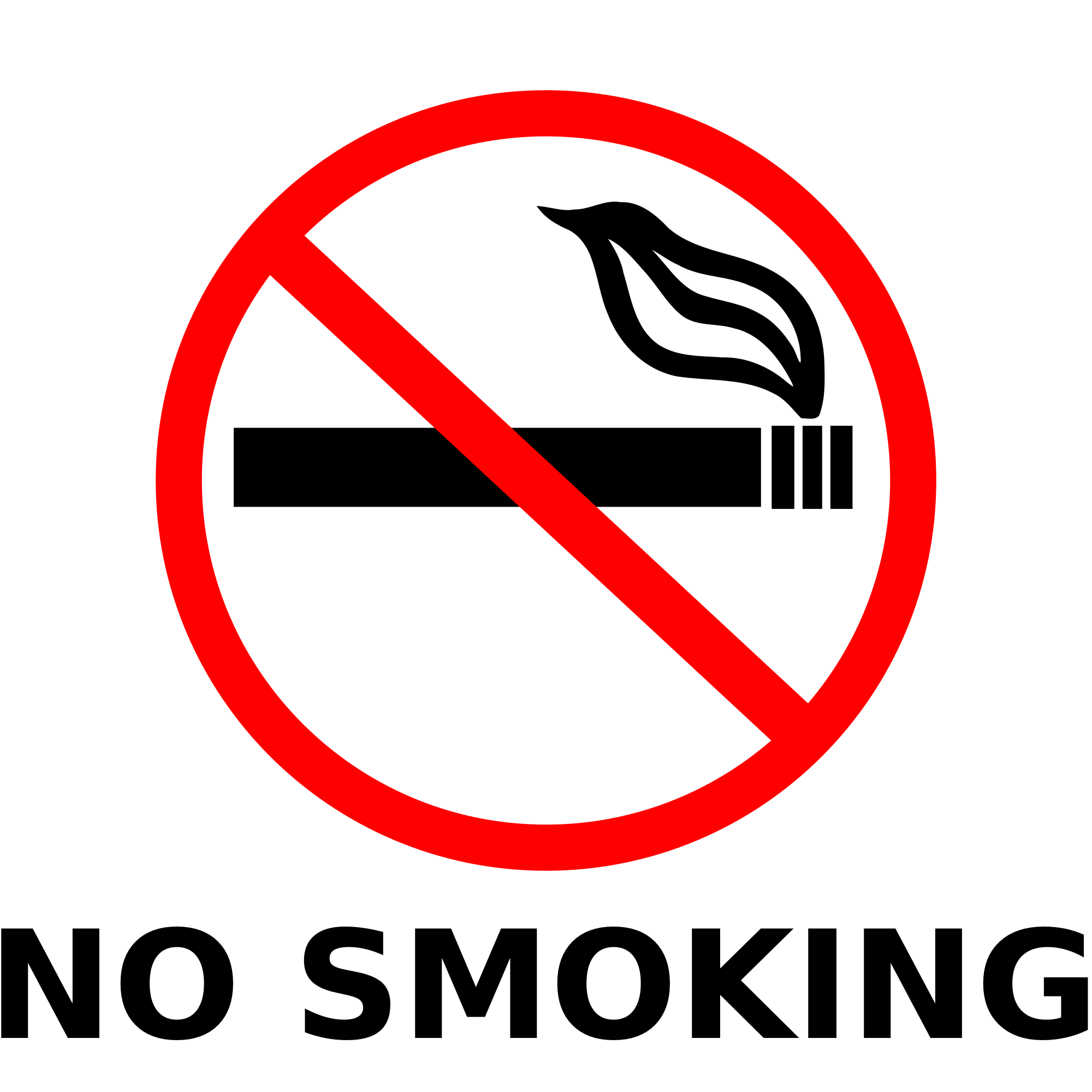 No Smoking Sign Clipart.