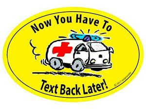 Details about Car Safety Sign Magnet Don\'t Text & Drive No Texting Cell  Phone First Responder.