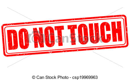 Do not touch stamp.