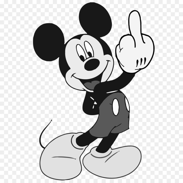 Mickey Mouse Minnie Mouse Donald Duck The finger The Walt Disney.