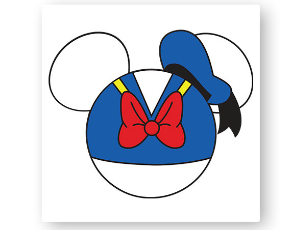 Donald Duck Head Clipart.