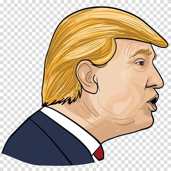 Donald Trump art, Cartoon, donald trump transparent background PNG.