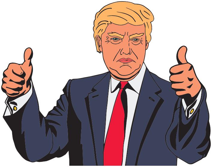 Donald Trump cartoon.
