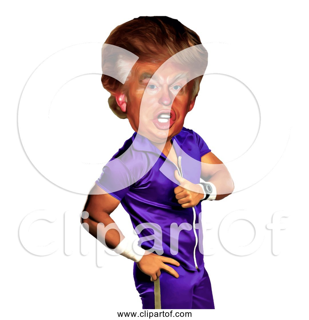 Free Clipart of Funny Donald Trump Caricature.