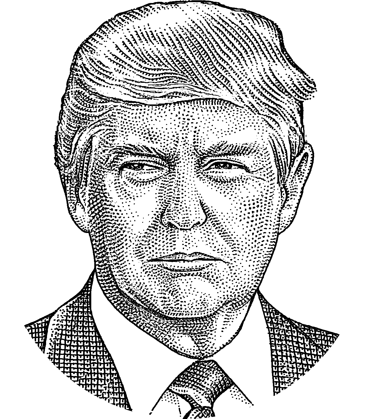 Donald Trump Png Drawing.