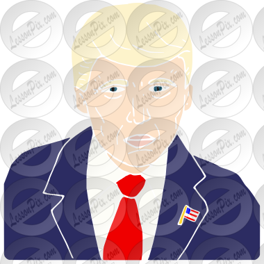 Donald Trump Stencil for Classroom / Therapy Use.
