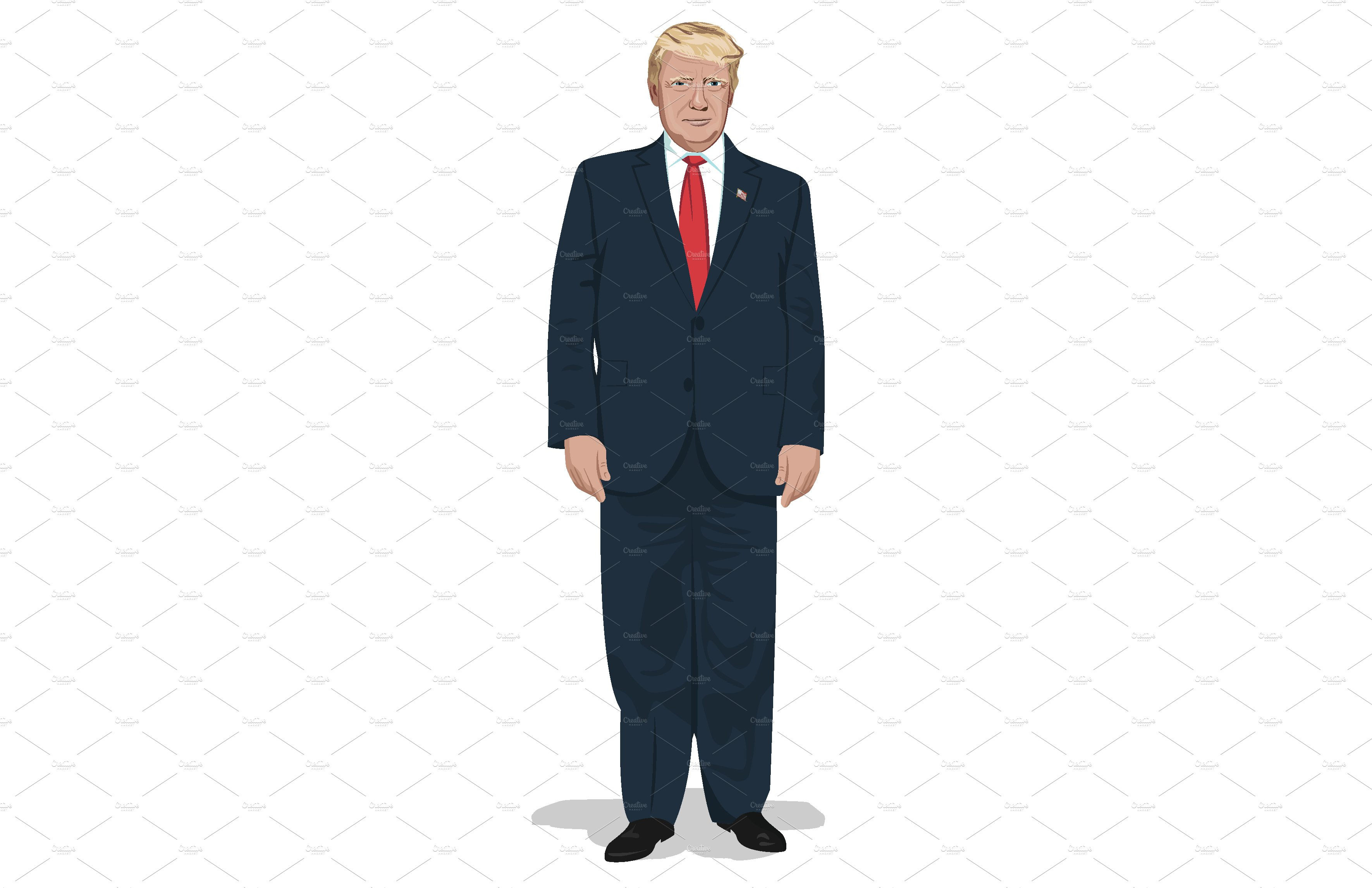 President Donald Trump full body.
