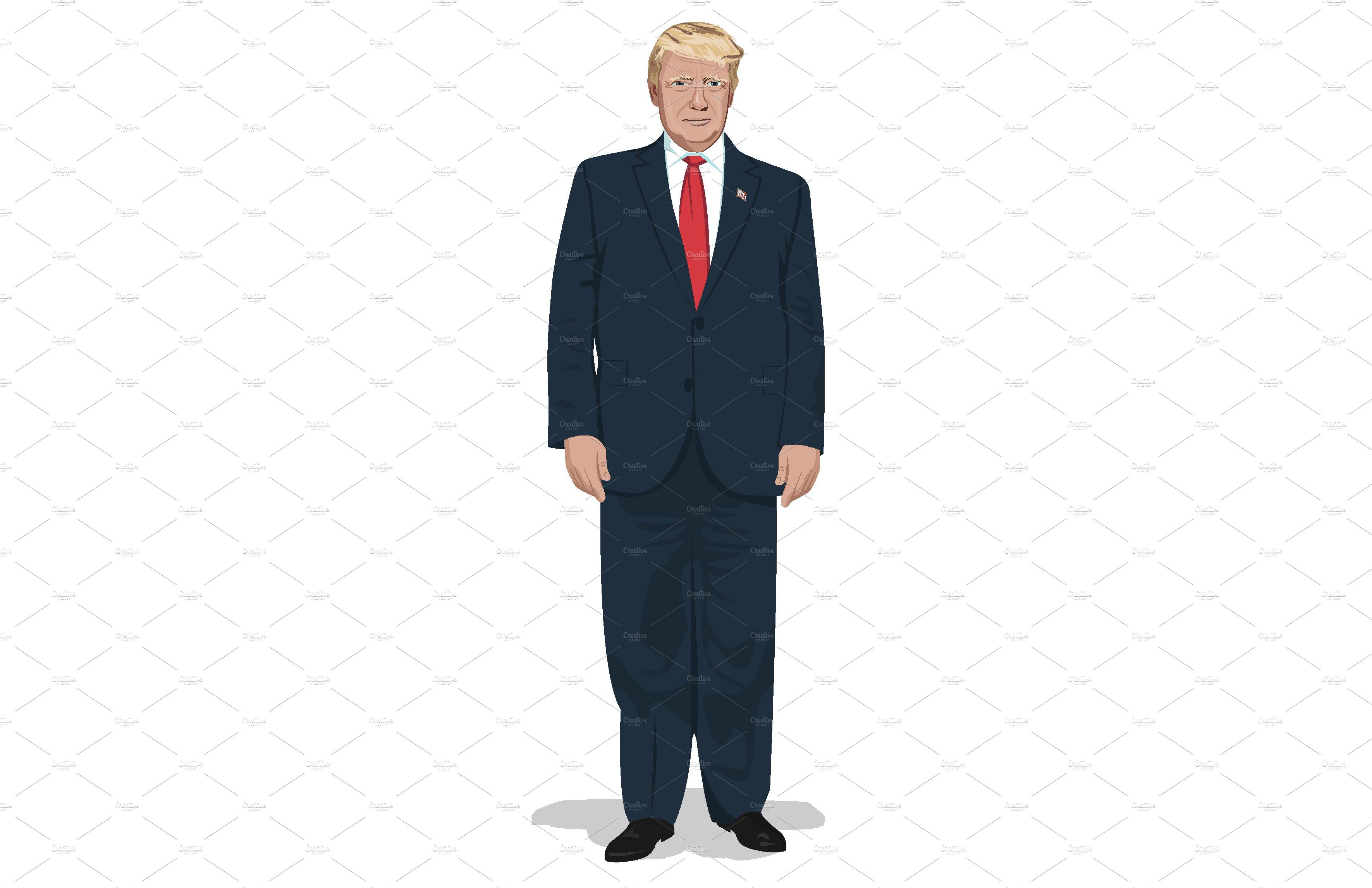 President Donald Trump full body.