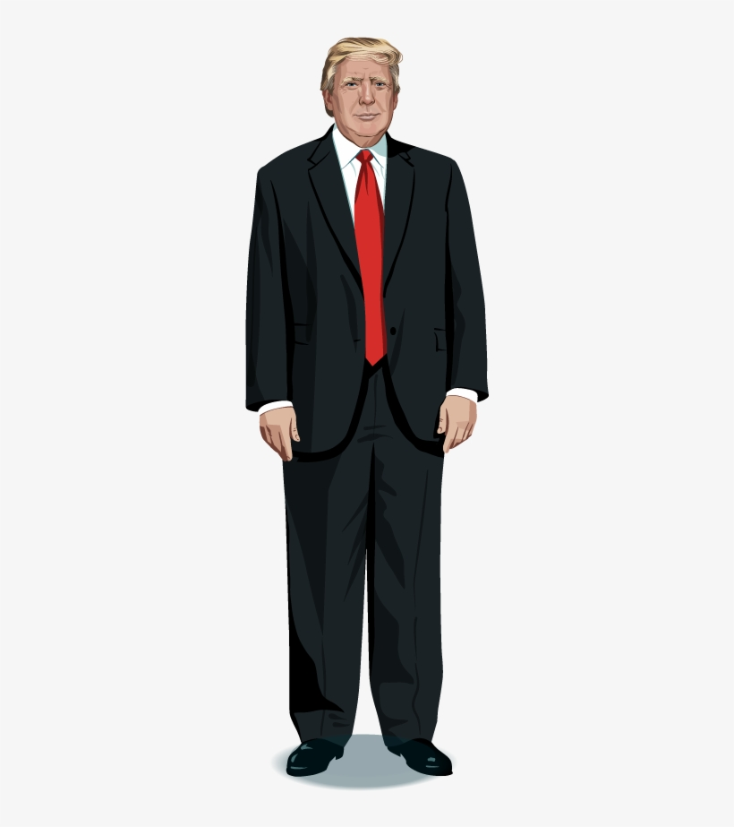 Donald Trump Full Body Png Svg Royalty Free Stock.